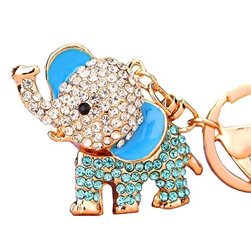 Cute Big Ears Elephant Keychain Sparkling Keyring Crystal