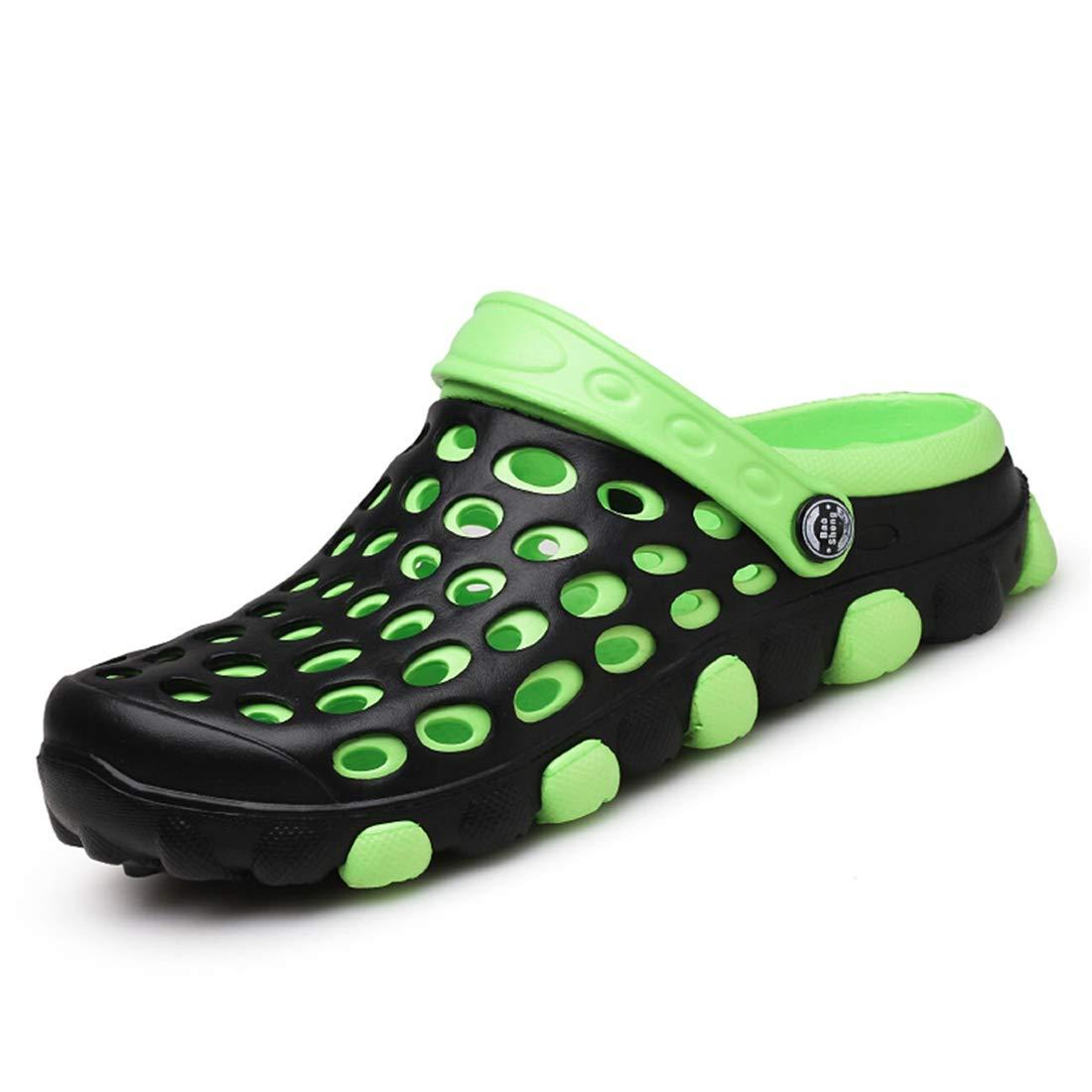 Men Garden Clogs Shoes House Slippers Sandals Indoor Outdoor Shower Plastic Slip on Sandals Slippers Green 270mm:10 D(M) US Men