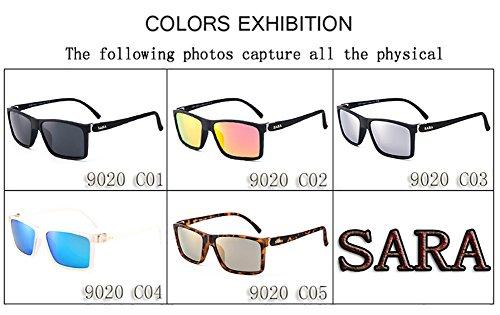 Mujer C5 Polarizadas para Aviator Hombre para Gafas UV Protección De Sol 400 C3 q7EwIXg