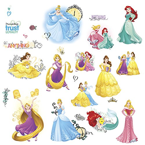 RoomMates Disney Princess Friendship Adventures Peel and Stick Wall Decals (Disney Princess Stick)
