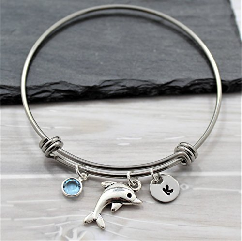 Dolphin Bracelet - Personalized - Dolphin Jewelry - Nautical Themed Gifts - Dolphin Lover - Fast Shipping