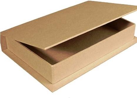 Papel maché para decorar con forma de libro caja de 18 x 12 x 3 cm   Cajas de papel maché: Amazon.es: Hogar