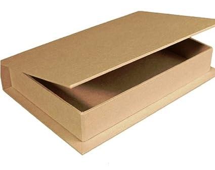 Papel maché para decorar con forma de libro caja de 18 x 12 x 3 cm