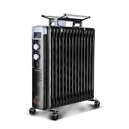 Sunny Radiador Lleno De Aceite 2KW 15 Aleta - Calentador Eléctrico Portátil - 3 Configuraciones De