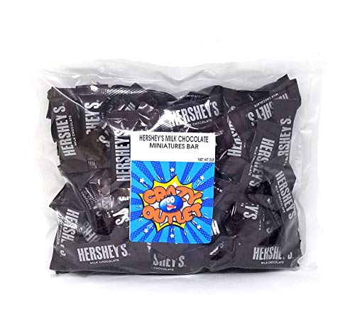 Hershey's Milk Chocolate Snack Size Candy Bar - 2 Pound Package ()