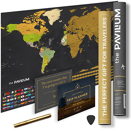 Urban Traveler (Large Scratch Off World Map - Your Personalized Urban Traveler Poster, Scratchable of your Travels in USA, Europe and the Globe by The Pavilium)