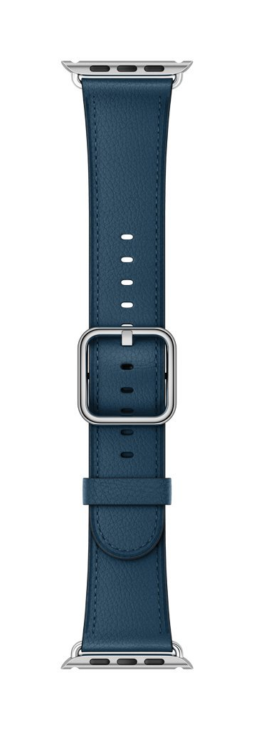 Apple 38mm Classic Buckle Smartwatch Replacement Band for Watch Series 1, Watch Series 2, Watch Series 3 - Cosmos Blue