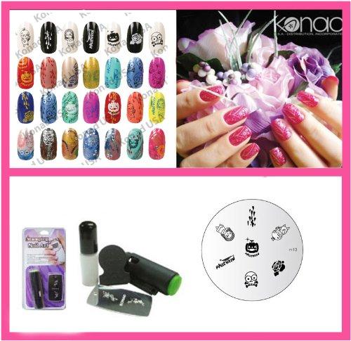 Konad Nail Art Mini Set Polish, Stamper, &