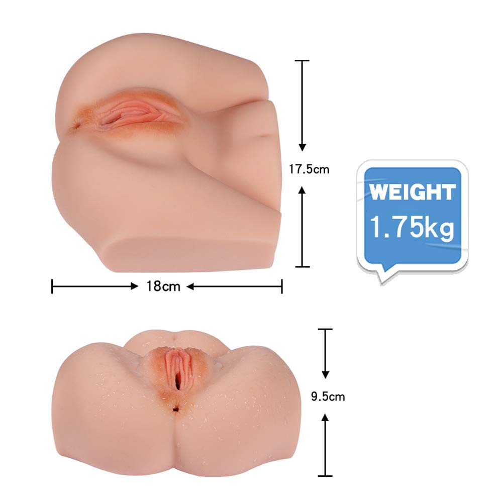 Sex Doll Male Masturbator with Vagina and Anal for Men- 3D Realistic Virgin Pussy Ass Adult Sex Toys for Men Masturbation