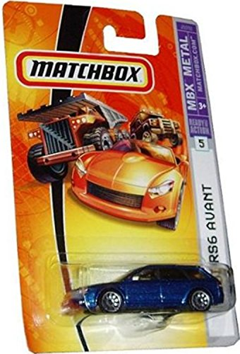 Mattel Matchbox MBX Metal 1:64 Scale Die Cast Car - Metallic Blue Station Wagon Audi RS6 Avant