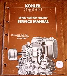 kohler engines single cylinder engine service manual model k91 k141 rh amazon com Tecumseh K301 Tecumseh K301