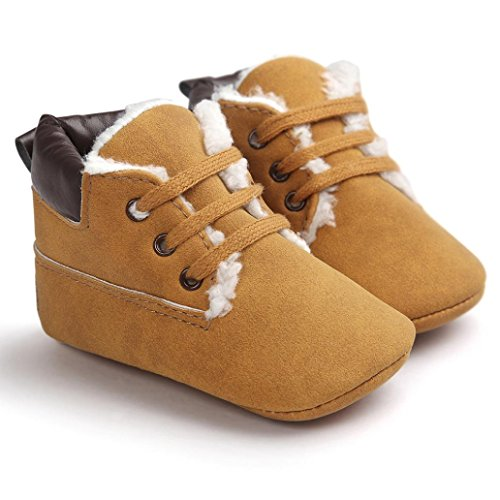 Decorie Lovely Baby Boy Girl Warm Soft Sole Faux Leather Toddler Shoes