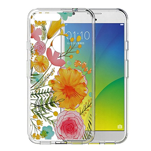 Google Pixel Case, Nuomaofly [Creative Scratch Resistant] Ultra Slim Soft TPU Bumper + Hard Clear Print Back Cover [Crystal Clear] Hybrid Case for Google Pixel (Flower)