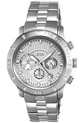 JBW Men's J6259A Cruiser Chronograph Brushed Diamond Watch