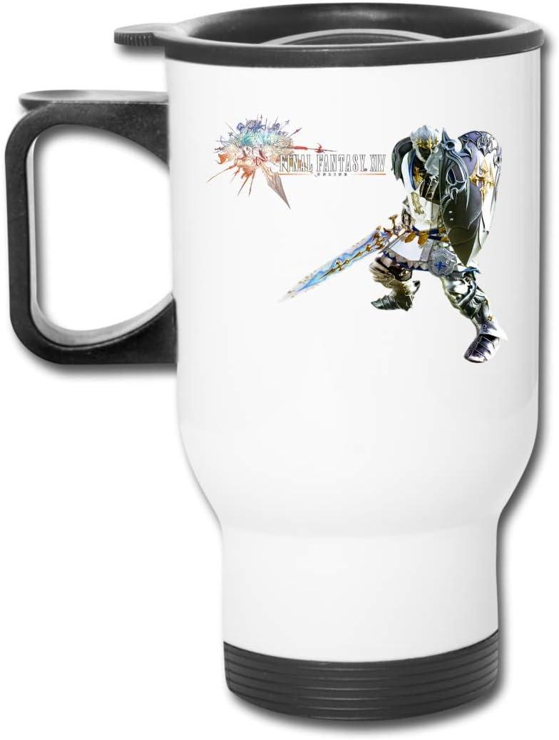Botella de agua de acero inoxidable con aislamiento al vacío Cartel de Final Fantasy Xiv Taza de viaje esmerilada de moda para bebidas calientes/frías, café o té