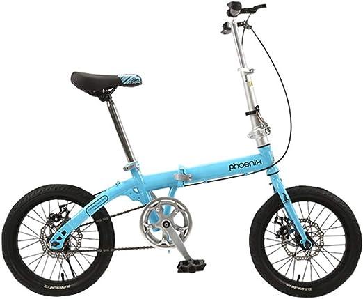 DT Bicicleta Plegable Multicolor 14 Pulgadas 16 Pulgadas Adulta ...
