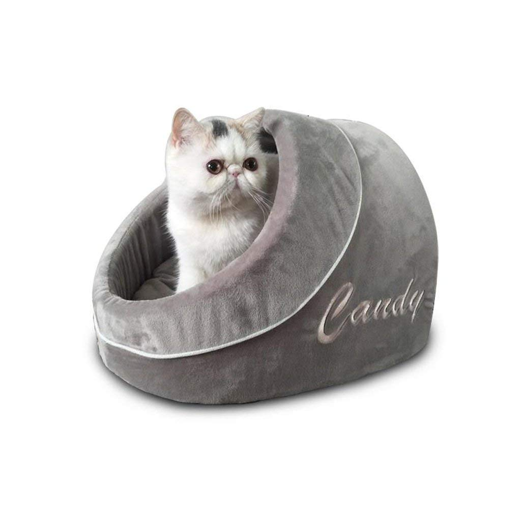 B Gperw Pet supplies Pet House Dog Bed Kennel Puppy Nest Cat Dog House Sleeping Bag Keep Warm Pet Supplies mprove sleep and car(color   A) Non Slip Cushion Pad (color   B)