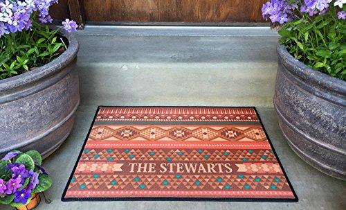 (Qualtry Personalized Outdoor Welcome Entrance Door Mat - Decorative Front Door Welcome Rug Wedding Gift (Southwest Stewart Design, Medium Size))