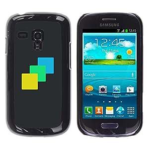 EJOY---Cubierta de la caja de protección la piel dura para el / Samsung Galaxy S3 MINI 8190 / --Tres Colores