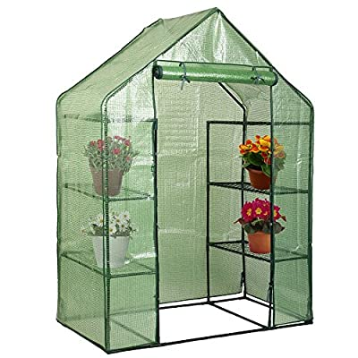 Walk In Greenhouse Outdoor Portable Mini 8 Shelves 4 Tier Green House Pittayadomeshop