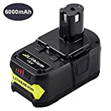 Dosctt 6.0Ah P108 Battery for Ryobi 18V One Plus Lithium-ion Battery Replacement for Ryobi 18-Volt ONE+ P102 P103 P104 P105 P107 P109 Cordless Tools 1 of Pack