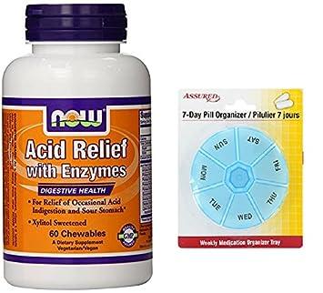 Amazon.com: Ahora alimentos alivio ácido enzimas masticables ...