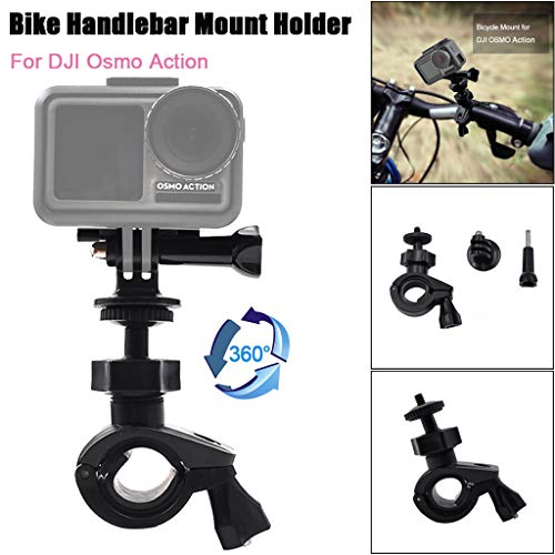 Price comparison product image BIYATE Camera Super Clamp Quick Release Pipe Bar Clamp Bike Clamp Tripod Head for DJI OSMO Action for GoPro HERO7 Camera Monitor,  Work on Music Stands / Microphone Stands / Motorcycle / Bike / Rod Bar