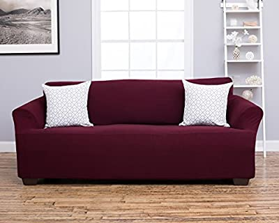 Amalio Collection Strapless Slipcover. Form Fit, Slip Resistant, Stylish Furniture Shield / Protector Featuring Plush, Heavyweight Fabric. By Home Fashion Designs.
