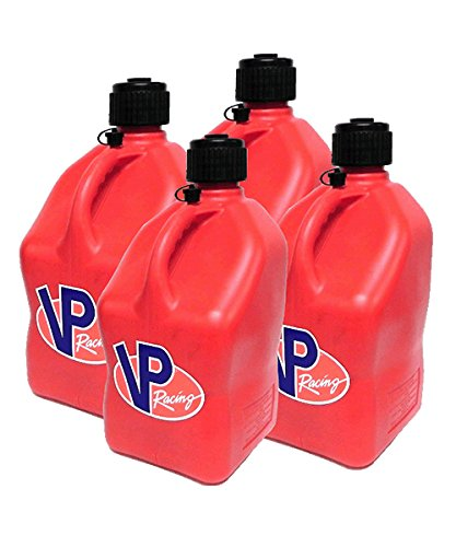 4 Pack VP 5 Gallon Square Red Racing Utility ()
