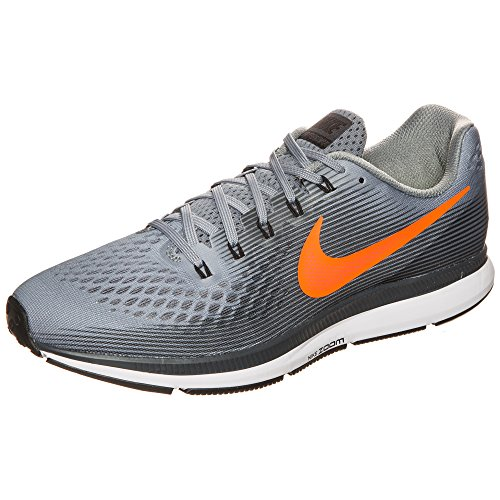 Nike Air Zoom Pegasus 34 Herren Laufschuhe Cool Grey / Anthrazit / Orange