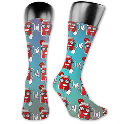 SARA NELL Men & Women Classics Crew Socks Businessman Sweet Tomato Juice in Character Glass Thick Warm Cotton Crew Winter Socks Personalized Gift Socks -