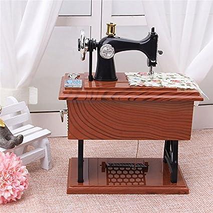 Amazon OKOKMALL USVintage Music Box Mini Sewing Machine Style Fascinating Decor Mini Sewing Machine
