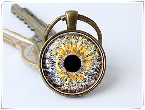 - Beautiful Dandelion Human Eyeball Keychain Eye Keyring Grey Eye Key Ring