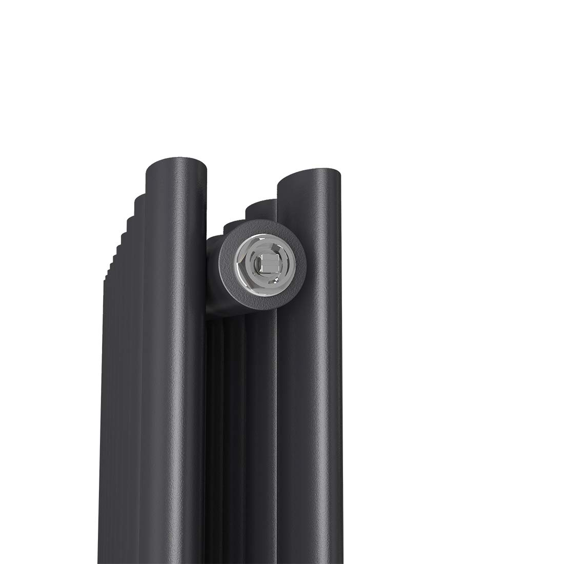 Design Oval Heizk/örper Design Horizontaler Paneelheizk/örper 600 x 770 mm Wei/ß Heizung Seitenanschluss Doppellagig