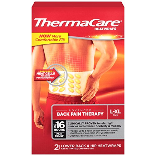 Image of ThermaCare Lower Back & Hip Pain Therapy Heatwraps, L-XL Size (2-Count, Pack of 3)