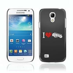 Designer Depo Hard Protection Case for Samsung Galaxy S4 Mini / Love Fender Guitar