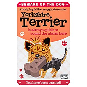 Wags and Whiskers Yorkshire Terrier Sign, Large, Multicolor 2