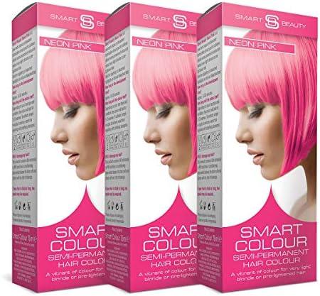 Smart Color Semi-Permanente Rosa Neón Tinte Cabello X 3