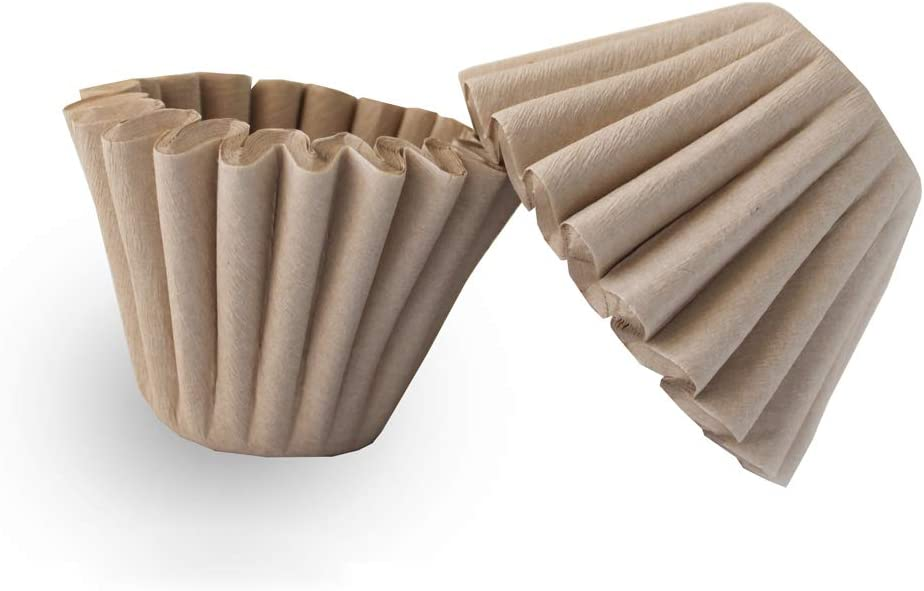 1-4 Cup Basket Coffee Filters,Natural Brown Biodegradable Basket Filters Paper Unbleached für Zuhause Office Use,Coffee Filter Flowers, 50 Count