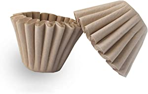 1-4 Cup Basket Coffee Filters,Natural Brown Biodegradable Basket Filters Paper Unbleached for Home Office Use,coffee filter flowers, 50 Count