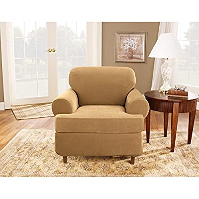 Sure Fit Stretch Pique 3-Piece T Loveseat Slipcover