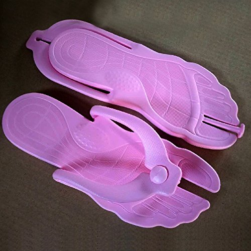 Été Portable Flops Plage Pliable Eastlion Foncé Flip Unisexe String Simple Pantoufles Rose wnnYHI