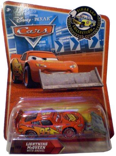 Disney / Pixar CARS Exclusive 155 Die Cast Car Final Lap Series Lightning McQueen with Shovel