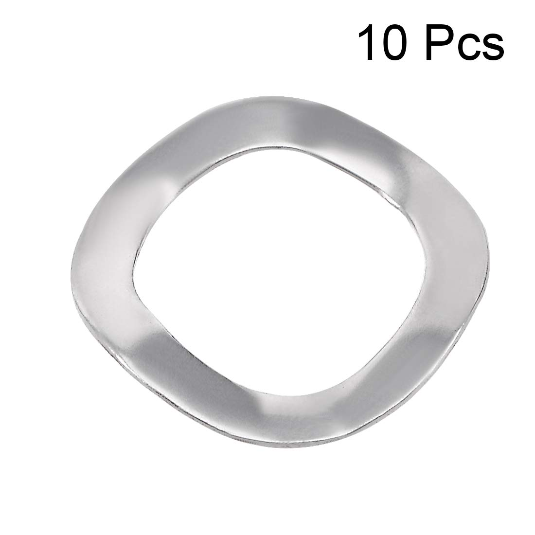 uxcell 10 Pcs 10.5mm x 15mm x 0.3mm 304 Stainless Steel Wave Spring Washer for Screw Bolt