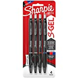 Sharpie S-Gel, Gel Pens, Medium Point (0.7mm), Assorted Colors, 4 Count