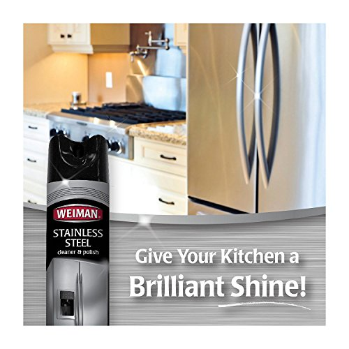 Weiman Stainless Steel Cleaner & Polish (17oz.,3pk.) (pack of 6) by Weiman