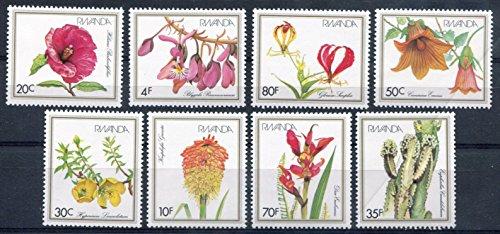 Rwanda Stamps: Set of 8, 1982, Flowers/Plants, MNH