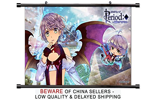Period Cube Anime Fabric Wall Scroll Poster (32x18) Inches
