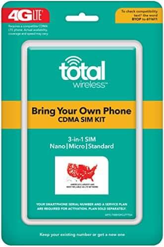 Total Wireless Universal CDMA Sim Kit