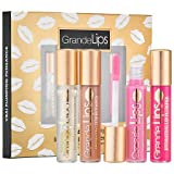 Grande Hydrating Instant Mini Lip Plumper Set: in Original Clear (clear high gloss), Barely There (light pale nude), Pale Rose (light pink), Hot Fushcia (hot electric pink)